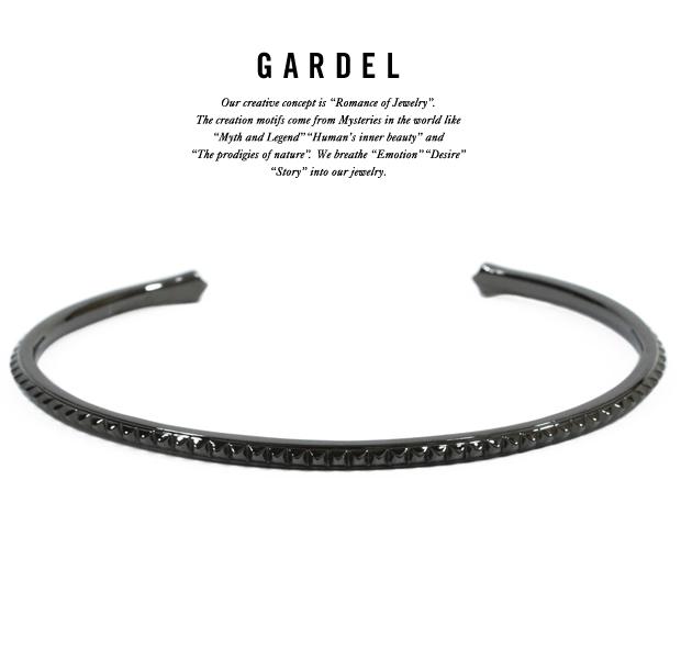 GARDEL gdb044 TENER STUDS BANGLE BK
