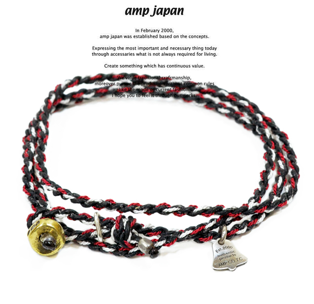 amp japan  12ah-300 yacht rope bracelet/Black