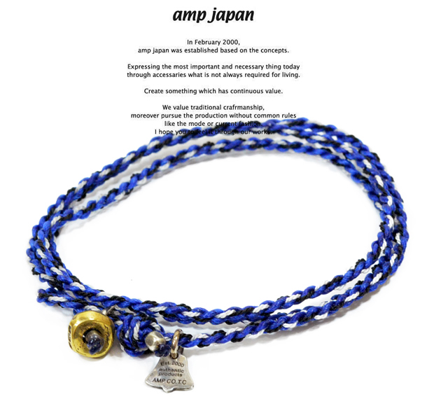 amp japan  12ah-300 yacht rope bracelet/Blue
