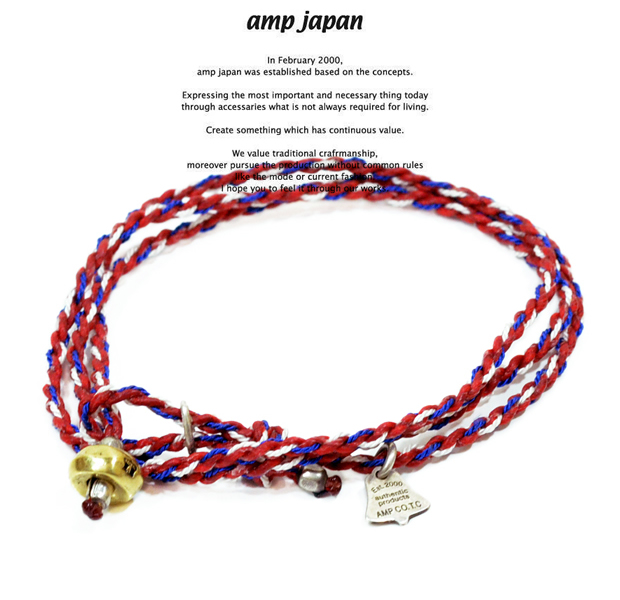 amp japan  12ah-300 yacht rope bracelet/Red