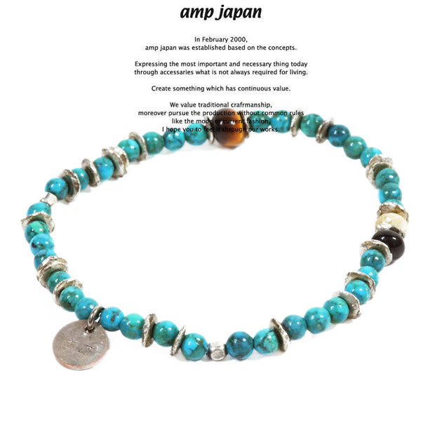 amp japan 13ahk-154 round turquoise bracelet