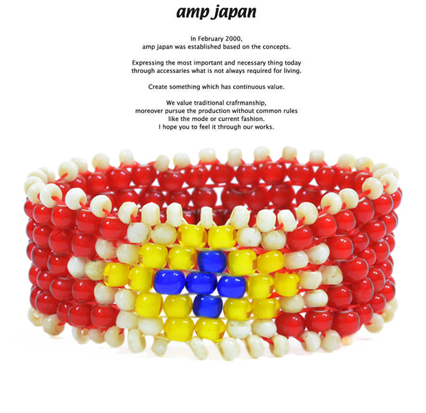 amp japan 13ah-135 white heart bracelet
