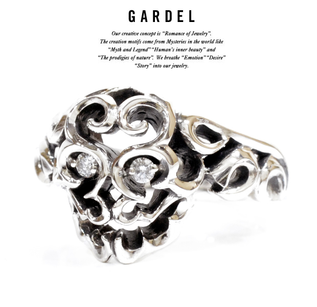 GARDEL gdr046 RUFEN SKULL RING Diamond