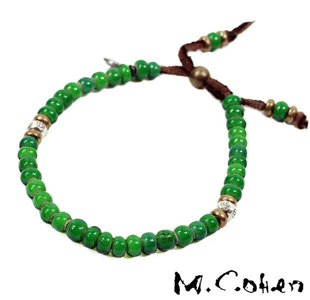 M.Cohen B700/Green Antique Beads Bracelet