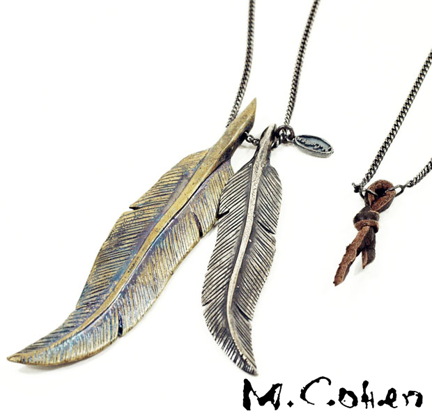 M.Cohen Double Feather Necklace
