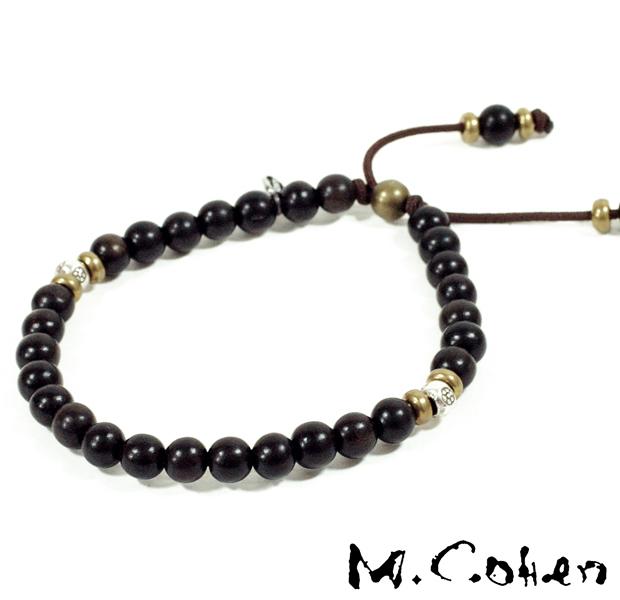 M.Cohen B700/Black Antique Beads Bracelet
