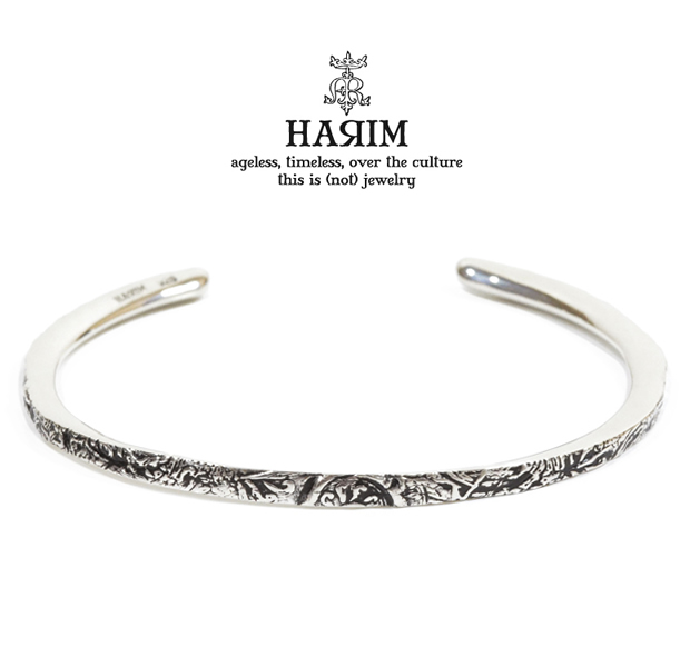 HARIM HRA040/SV ARABESQUE BANGLE
