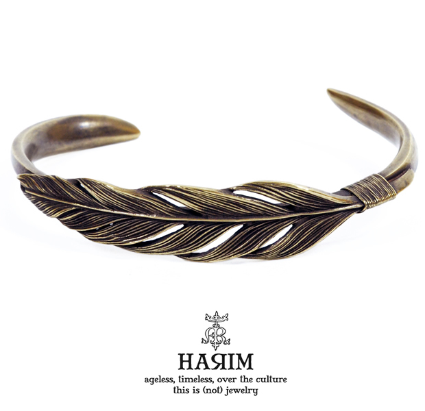 HARIM HRA023BR Owl feather bangle [sunlight]