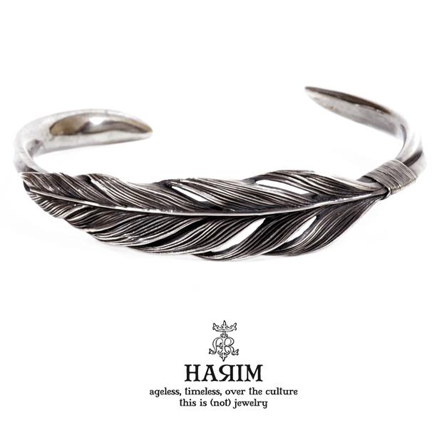 HARIM HRA023SV Owl feather bangle [twilight]