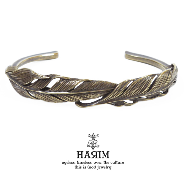 HARIM HRA034BR double feather bangle BR