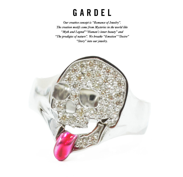GARDEL gdr067 RAPTURE SKULL RING