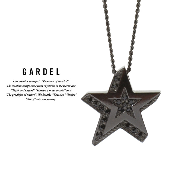 GARDEL gdp095 STAR RIGHT NECKLACE BK