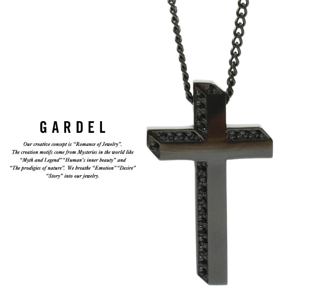 GARDEL gdp094 LUCE CROSS NECKLACE BK