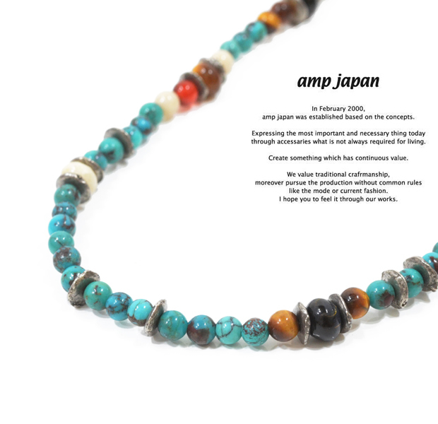 amp japan 14ahk-122 turquoise 3way choker