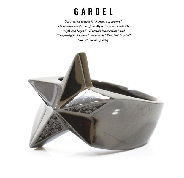 GARDEL gdr066 SPARKLING STAR RING BK