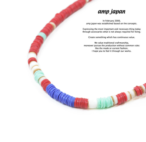 amp japan 14ahk-115RD red african disk beads 3way choker