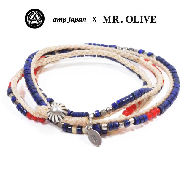 amp japan x Mr.Olive 14moh-400 Lapis Beading Bracelet