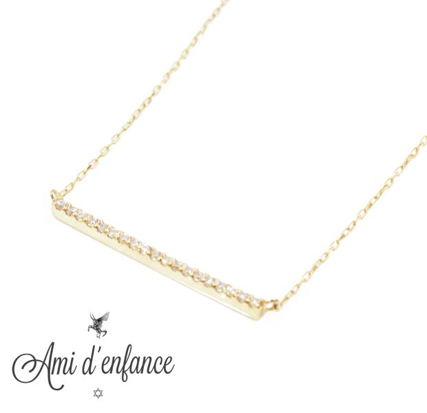 "Ami d'enfance AA1001-140002 ""Drizzle"" Necklace"