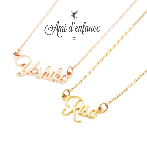 "Ami d'enfance AA1001-140021 ""Name's"" Necklace"