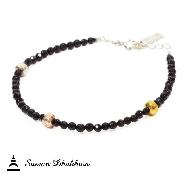 Suman Dhakhwa SD-B39 Onyx Beads Bracelet