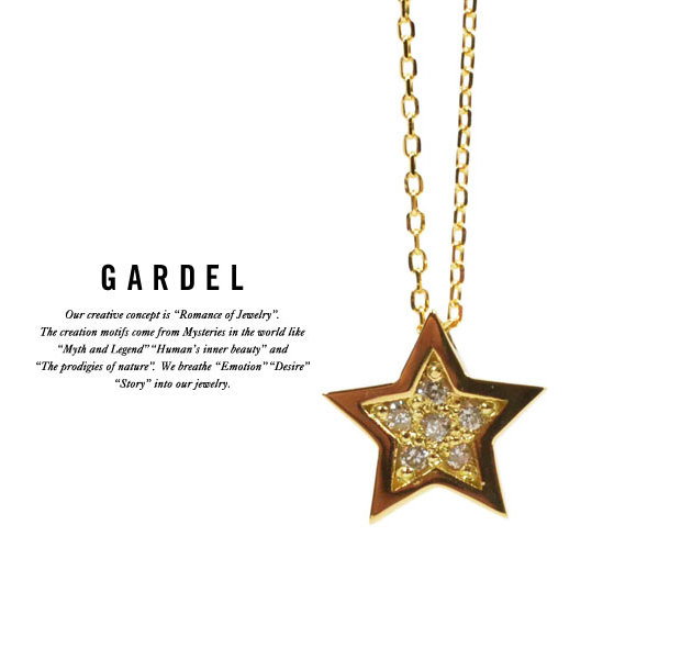 GARDEL gdp072 TINY DIAMOND NECKLACE STAR
