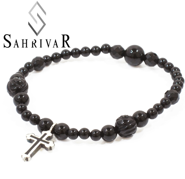 SAHRIVAR sb19s14s Filled cross Bracelet