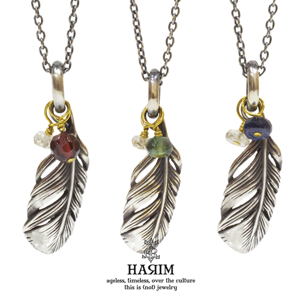 HARIM HRP092 EXTRA TINY FEATHER NECKLACE