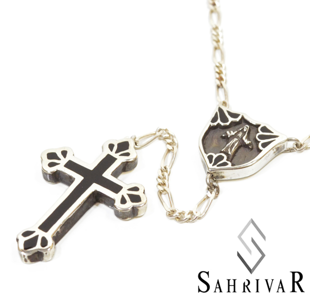 SAHRIVAR sn54s14s Filled Cross Rosary
