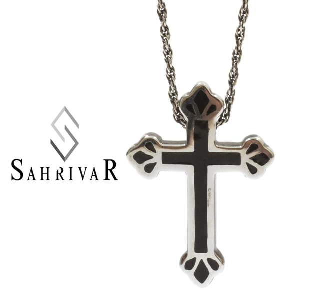 SAHRIVAR SN78S14A Filled Cross Necklace