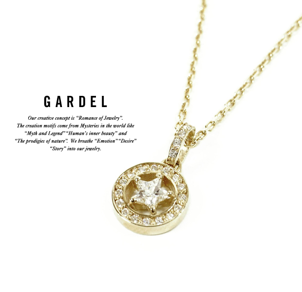 GARDEL gdp082 K18YG HENDRIC STAR NECKLACE (S)