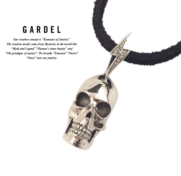 GARDEL gdp079 BLITZ SKULL NECKLACE