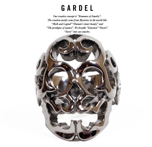 GARDEL gdr037bk NEW SURVIVE SKULL RING
