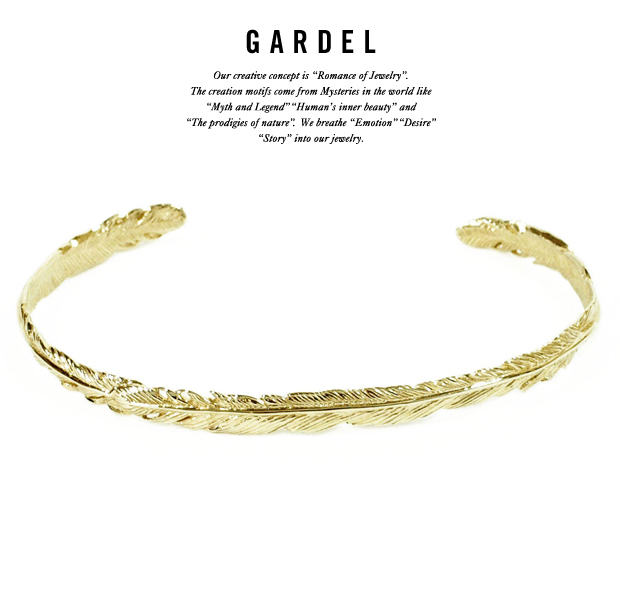 GARDEL gdb033 NATURAL FEATHER BRACELET