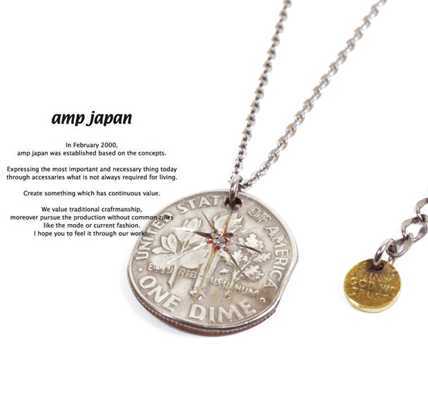 amp japan 13aa-101 dime necklace -diamond-