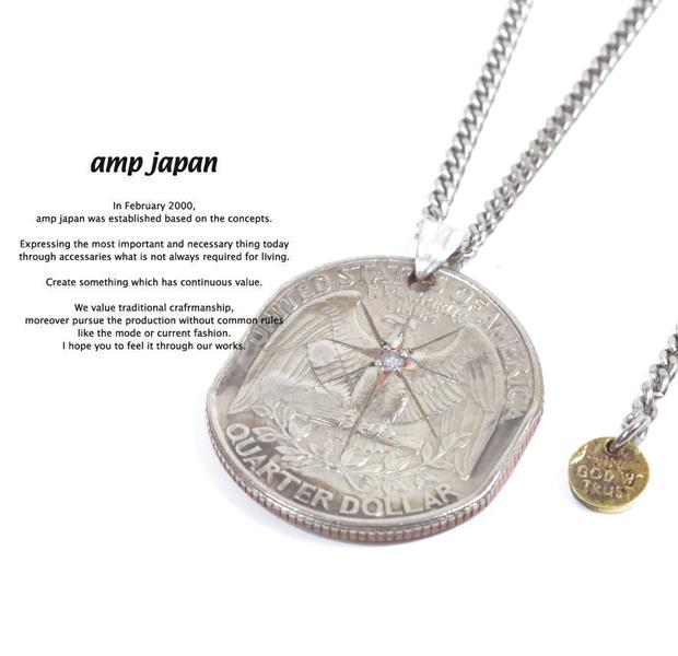 amp japan 13aa-103 quarter dollar necklace -diamond-