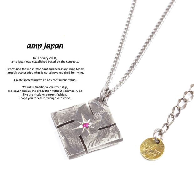 amp japan 13aa-105 swastika native american coin necklace -ruby-