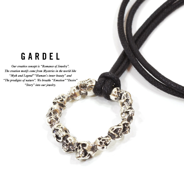 GARDEL gdp078 ETERNAL SKULL NECKLACE