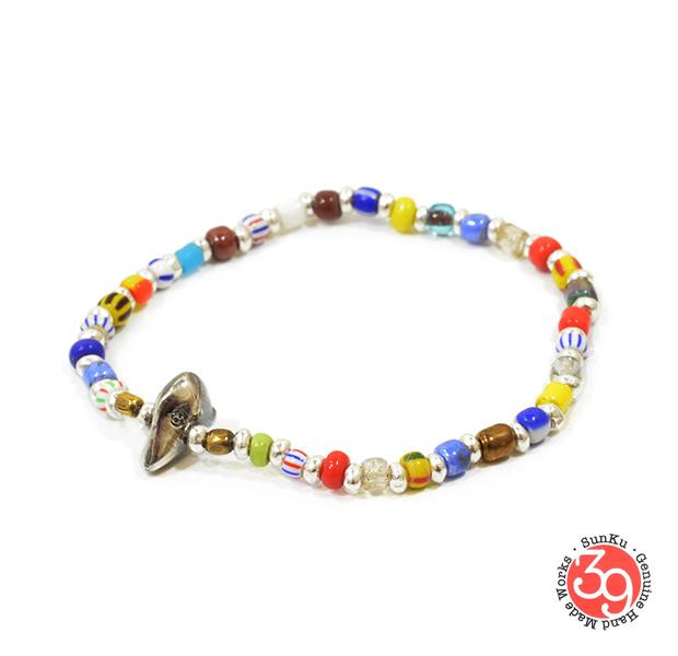 Sunku SK-038 Christmas & Silver Beads Bracelet