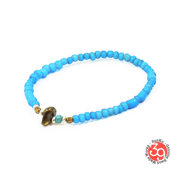 Sunku LTD-003 Antique Beads Bracelet Sky Blue