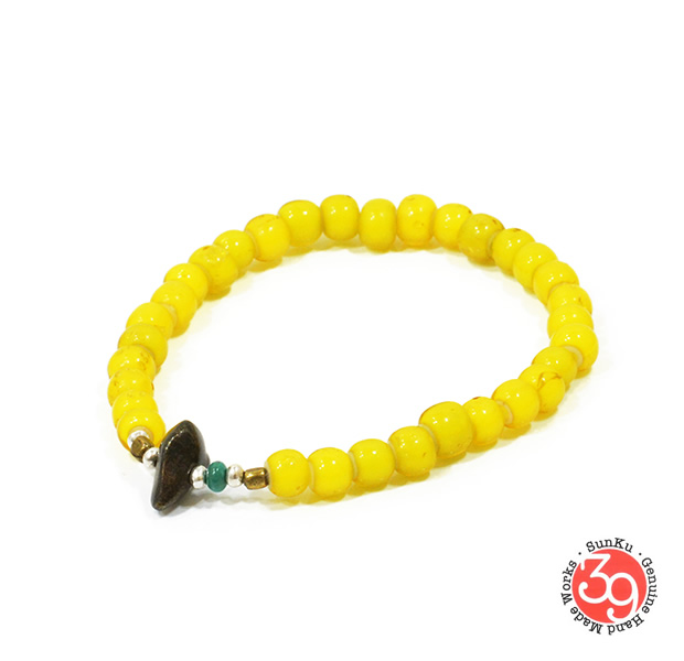 Sunku LTD-005 Antique Beads Bracelet Yellow
