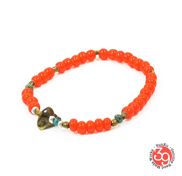 Sunku LTD-007 Antique Beads Bracelet Orange