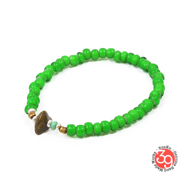 Sunku LTD-009 Antique Beads Bracelet Green