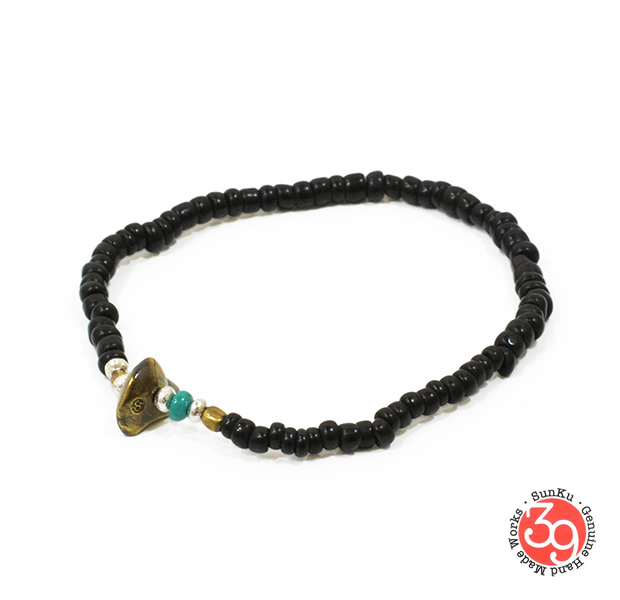 Sunku LTD-013 Antique Beads Bracelet Black