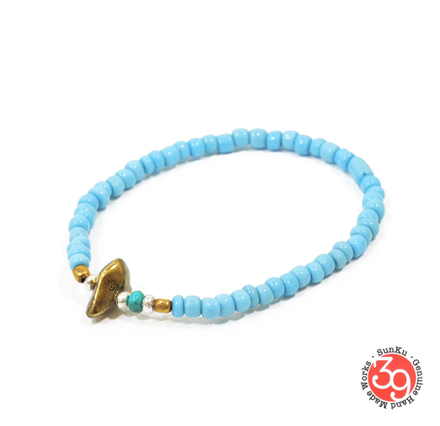Sunku LTD-017 Antique Beads Bracelet Sax
