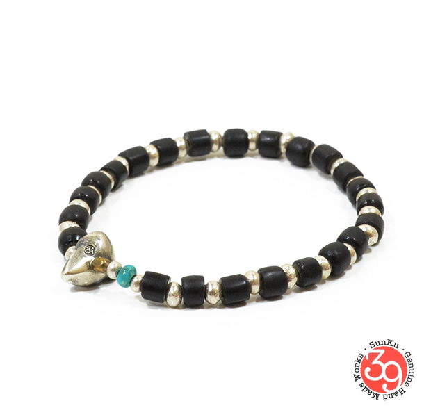 Sunku LTD-025 Antique Beads & Silver Beads Bracelet