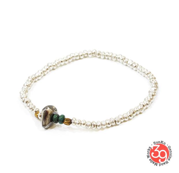 Sunku SK-005 Silver Beads Bracelet(S Beads)