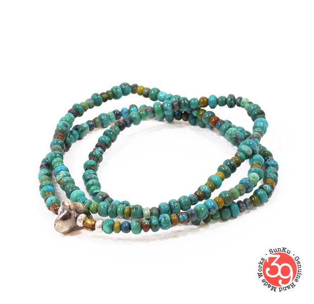 Sunku SK-008 Turquoise Beads Necklace & Bracelet