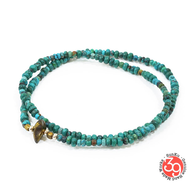 Sunku SK-024 Turquoise Beads Anklet & Necklace