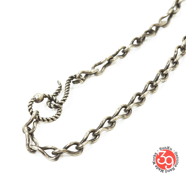 Sunku SK-062 Handmade Twisted Chain Necklace 55cm