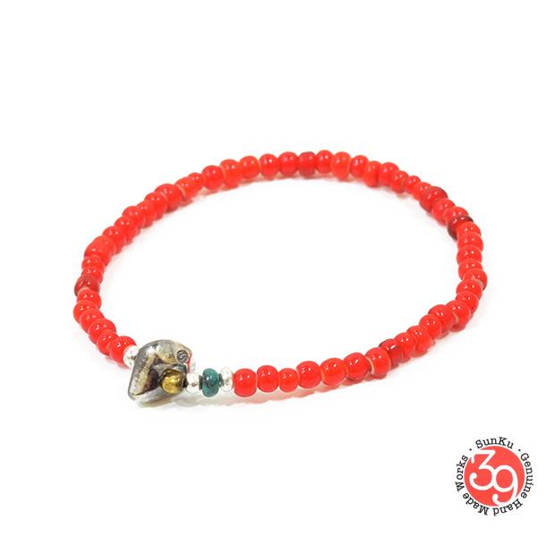 Sunku SK-066 White Heart Beads Bracelet